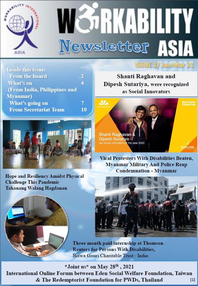 Newsletter Issue 1 | Jan-Mar 2021